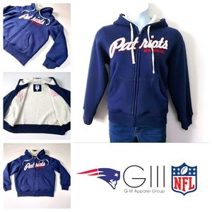 Womens Insulated PATRIOTS Zip Up Hoody XL